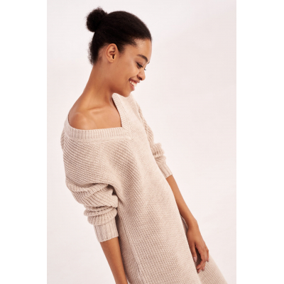 Вязаное платье Мелания 4553 бежевое