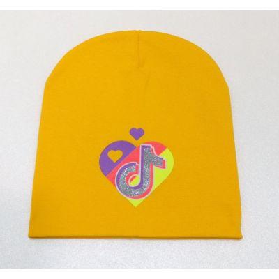 Шапочка трикотажная Тик-Ток жёлтая
