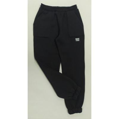 Спортивные брюки 1299 с начесом черные