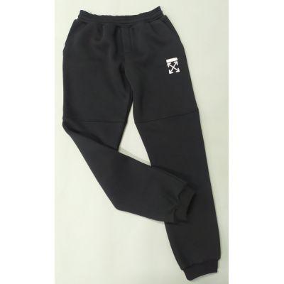 Спортивные брюки OFF с начесом черные