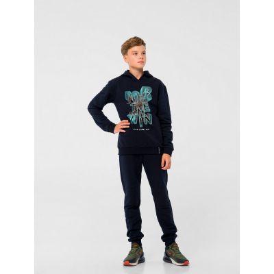 Спортивные штаны 115444/116444 с начесом черные