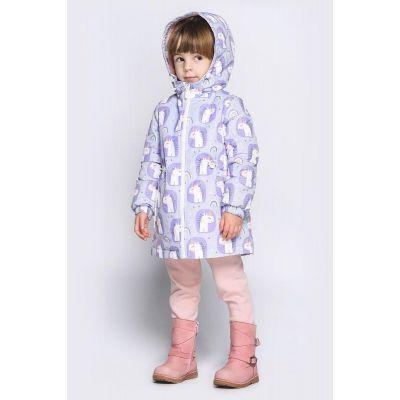 Куртка Эбби демисезонная Единорог фиолетовая