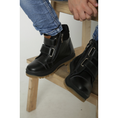 Ботинки флис тайм черные
