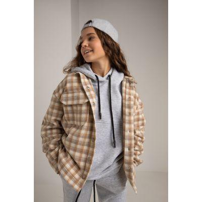 Куртка-рубашка Раяна 6110 бежевая