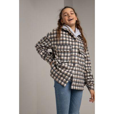 Куртка-рубашка Раяна 6109 графитовая