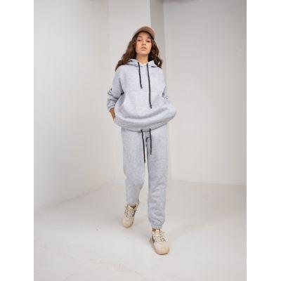 Спортивный костюм Найра байка серый меланж