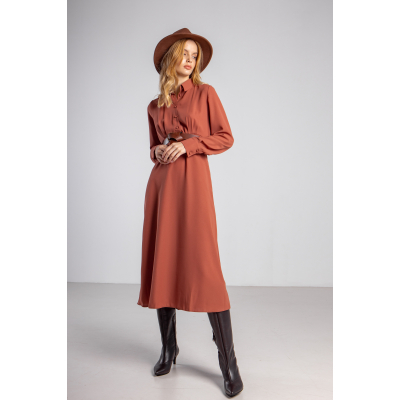 Платье Орната 5961 кирпичное