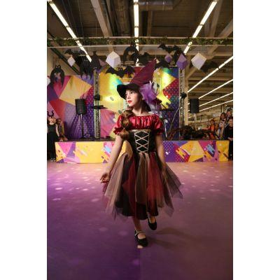 Карнавальный костюм Ведьмочка с вуалеткой