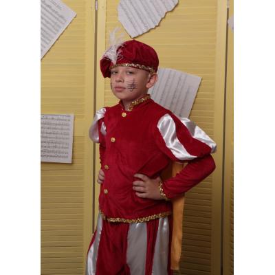 Карнавальный костюм  Королевич, Принц №1 красный