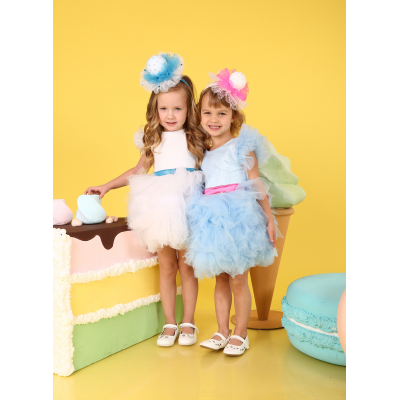 Карнавальный костюм Бусинка голубая с малиновым
