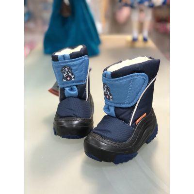 Cапоги зимние - дутики - сноубутсы для детей 4021 синие
