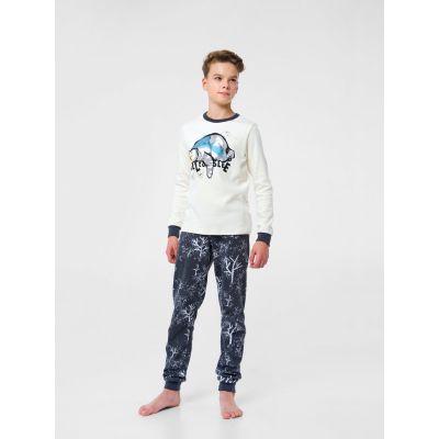 Пижама с начесом 104669 молочная