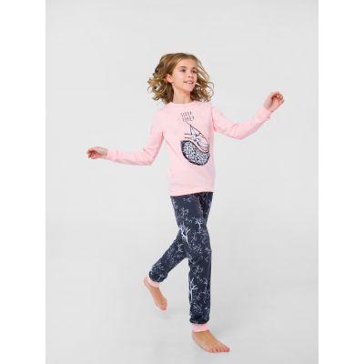 Пижама с начесом 104668 розовая
