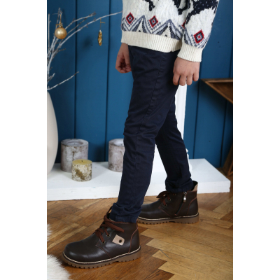 Ботинки 0209 коричневые