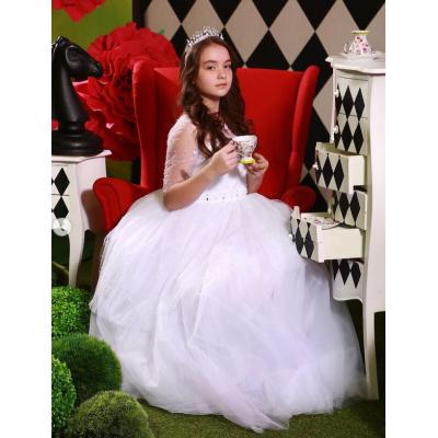 Карнавальный костюм Белая королева 10786 (Алиса в стране Чудес)