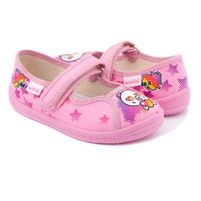 Туфли текстильные Оленка Like розовые 360-258