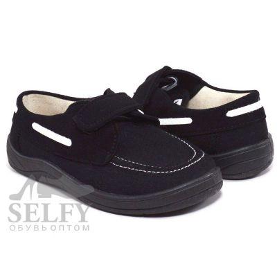 Туфли текстильные Топ-сайдери черная подошва 51-020-2