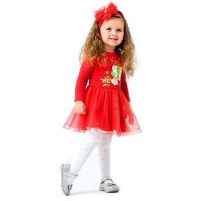 Комплект-платье Рождественские истории для девочки 109981 красный