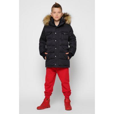 Куртка зимняя для мальчика DT-8316-8 черная