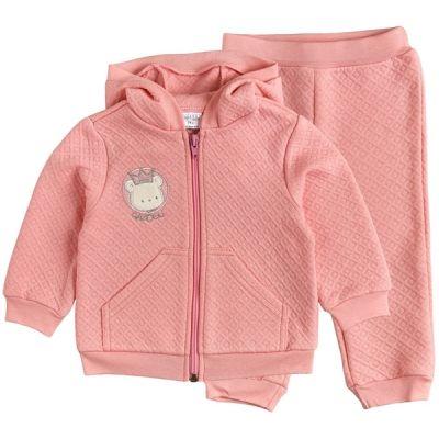 Комплект розовый капитон (кофта+штаны) 40173-15