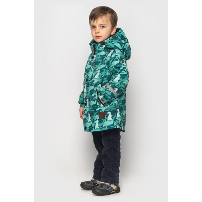 Куртка Оскар дошкольник изумрудно зеленая