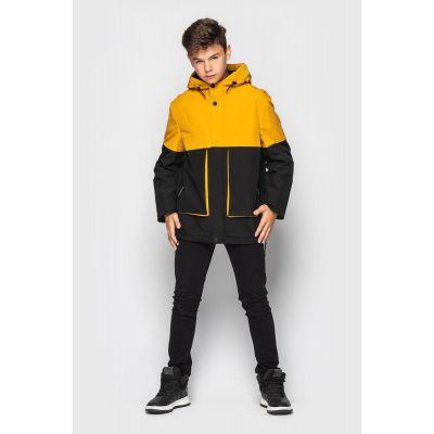 Куртка Сэм черно желтая