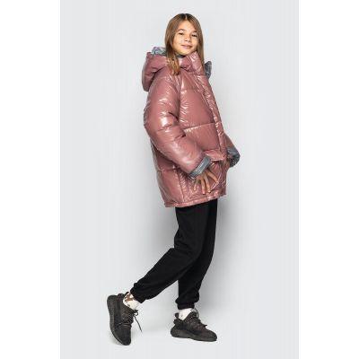 Куртка Камилла розово серая