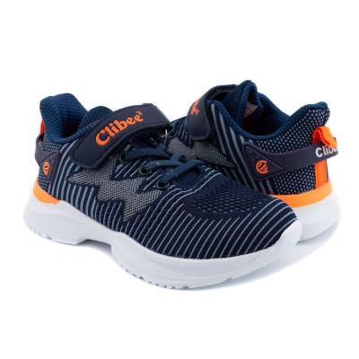 Кроссовки F990d сине оранжевые