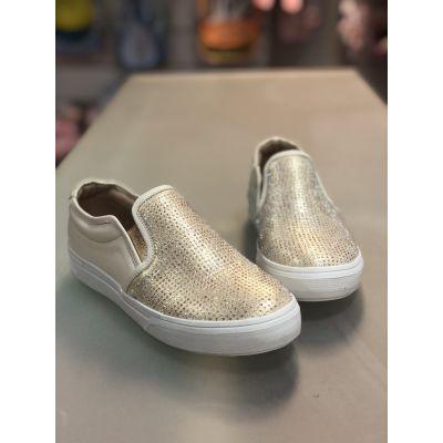 Слипоны - туфли кожаные для девочки Tina