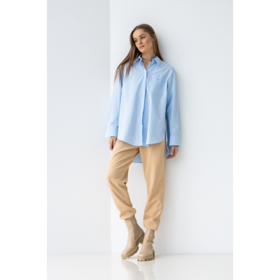 Рубашка Мелантея 6467 голубая