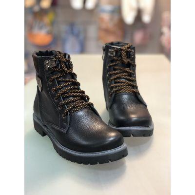 Ботинки черно-коричневые 6023