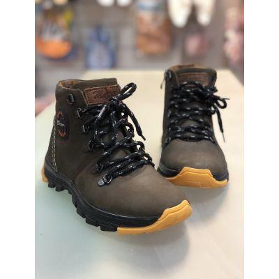 Ботинки кожаные Джерси коричневые нубук