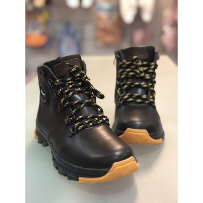 Ботинки кожаные Джерси коричневые