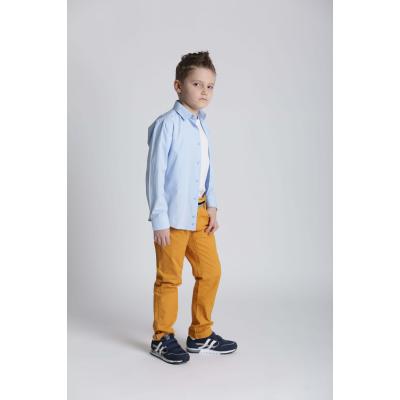 Рубашка школьная для мальчика 12-51-52(20103) голубая