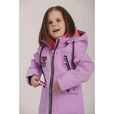 Куртка ветровка для девочки сиреневая 18-8