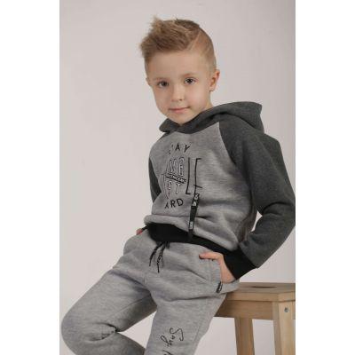 Батник-худи серый 39059-20