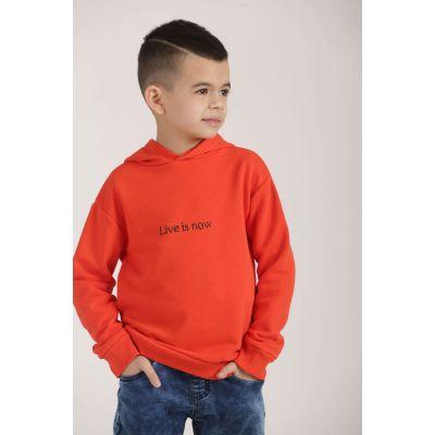 Худи LIVE 0612/0611 оранжевое