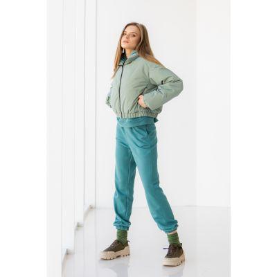 Куртка Мирея 6676 серо-мятный