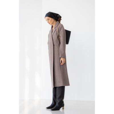Пальто Рубения 6541 шоколадное