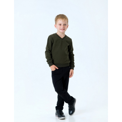"""Пуловер для мальчика 116438 хаки """"мысик"""""""