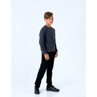 Пуловер для мальчика 116436 тёмно серый