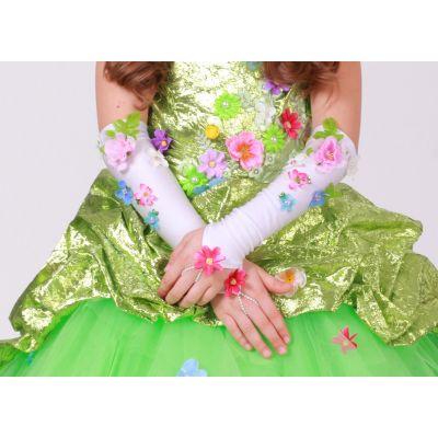 Перчатки бальные Цветочная весна №2