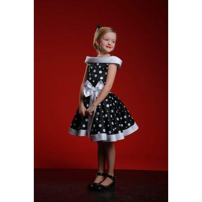 Нарядное платье для девочки Стиляги Горох - Бант 2