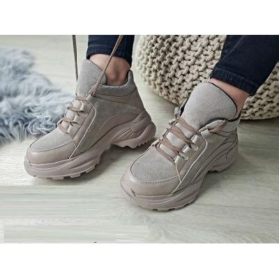 Ботинки Кроссовки Роуз бежевые байка