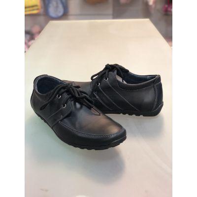 Туфли для мальчика шнурок МП13 черный Men's Style