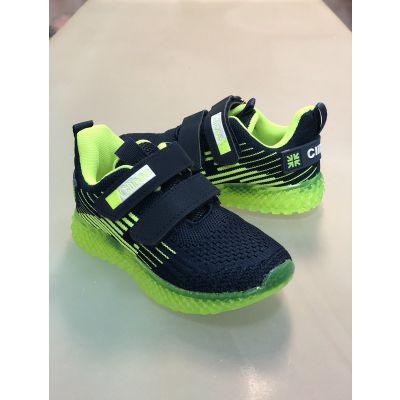 Кроссовки светящиеся  F863/865 сине-зелёные