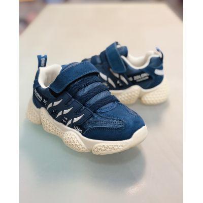 Кроссовки 19975 сине-бежевые