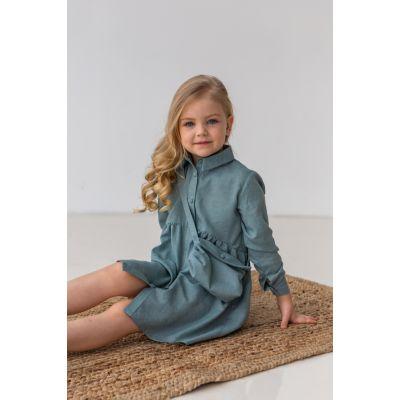 Платье Нандина 6819 серо-мятное