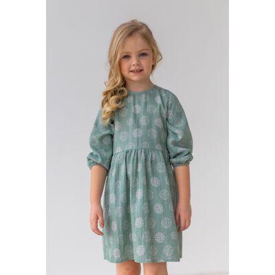 Платье Аксия 6794 серо-мятный