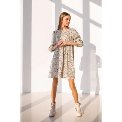 Платье Камелия 6810 серо-бежевое